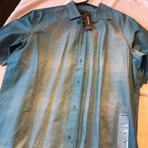 New mens Claiborne short sleeve shirt size L